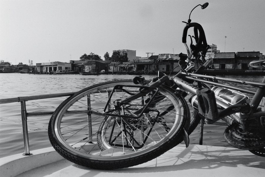 Bikes on the boat